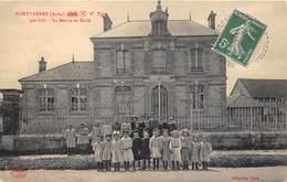 10-FONTVANNES- LA MAIRIE ET ECOLE - France