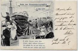 CPA Alsace Lorraine Caricature Satirique Guerre 14-18 Patriotique Germany Kaiser Guillaume II Circulé - Patriotic