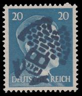 Emissioni Locali - Effige Di Adolf Hitler - 20 P. Azzurro Chiaro (1941/42) - Soprastampato Faccia Hitler Deturpata - Germania