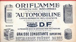 Buvard Ancien Lithograph.hydrocrabures : DESMARAIS Paris ORIFLAMME Pétrole LUXE -AUTOMOBILINE Essence HUILE AVION D.F. - Gas, Garage, Oil