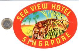 ETIQUETA DE HOTEL  SEA VIEW  HOTEL  -SINGAPORE  -ASIA - Hotel Labels