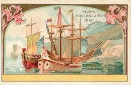 CHROMO  CHICOREE LEROUX   ORCHIES  FLUTE HOLLANDAISE 1640 - Chromos