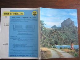 PUBLICITE MEDICALE SIROP DE PIPERAZINE  ANNEE 50  60 LA MEDECINE INDIGENE EN POLYNESIE - Advertising