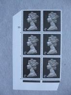 GB Machin Pre-decimal Cylinder Block X 6 MNH - 4d Sepia 13 Dot - Blocs-feuillets