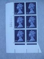GB Machin Pre-decimal Cylinder Block X 6 MNH - 5d 1 No Dot - Blocs-feuillets