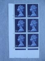 GB Machin Pre-decimal Cylinder Block X 6 MNH - 5d 1 Dot - Blocs-feuillets