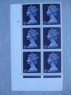 GB Machin Pre-decimal Cylinder Block X 6 MNH - 5d 10 Dot - Blocs-feuillets