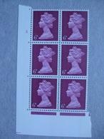 GB Machin Pre-decimal Cylinder Block X 6 MNH - 6d 3 Dot - Blocs-feuillets