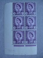 GB Wales Pre-decimal Cylinder Block X 6 MNH - 3d 3 No Dot - Local Issues