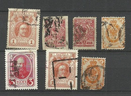 Russia Russland Lot Mute Cancels With Some Defects Faulty Stamps Included ! - 1857-1916 Empire