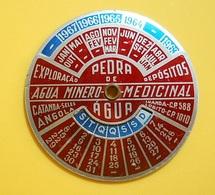 Mechanic Metal Calendar * Agua Minero-Medicinal * Angola - Calendars