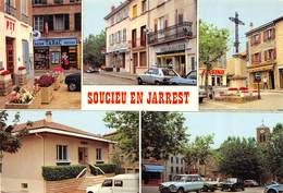 CPSM 69 SOUCIEU EN JARREST MULTI VUES     Grand Format 15 X 10,5 - France
