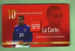 SFR 10€ - REUNION *** Equipe De France *** D.TREZEGUET *** (A114-P21) - France