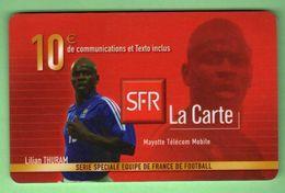 SFR 10€ - REUNION *** Equipe De France *** L.Thuram *** (A114-P21) - France