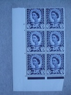 GB Wales Pre-decimal Cylinder Block X 6 MNH - 5d 2 No Dot - Local Issues