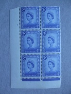 GB Isle Of Man Pre-decimal Cylinder Block X 6 MNH - 4d 1 No Dot - Local Issues