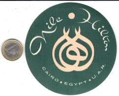ETIQUETA DE HOTEL    -NILE HILTON  - EL CAIRO  -EGIPTO - Hotel Labels