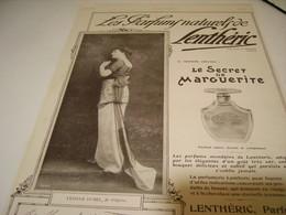 ANCIENNE PUBLICITE PARFUM NATUREL LENTHERIC  YVONNE DUBEL  1914 - Perfume & Beauty