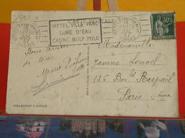 France > Carte Vittel-Établissement Vosges 15.7.1937. N° 280 Y&T - France