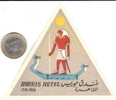 ETIQUETA DE HOTEL    -HORRIS HOTEL - EL CAIRO  -EGIPTO - Adesivi Di Alberghi