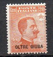Oltre Giuba 1925  Posta Ordinaria N. 6 Nuovo MLH* - Oltre Giuba