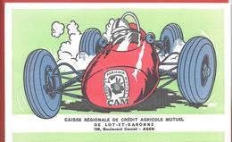 Buvard Ancien C.R.C.A.M. CAISSE REG. CREDIT AGRICOLE MUTUEL DE LOT ET GARONNE à AGEN - Formule 1 En Course - Bank & Insurance