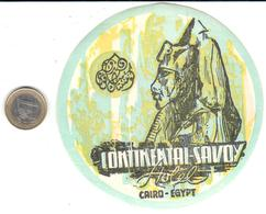 ETIQUETA DE HOTEL    -CONTINENTAL SAVOY - EL CAIRO  -EGIPTO - Hotel Labels