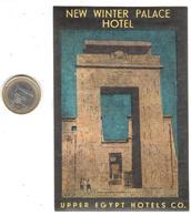 ETIQUETA DE HOTEL    -NEW WINTER PALACE HOTEL - EL CAIRO  -EGIPTO - Adesivi Di Alberghi