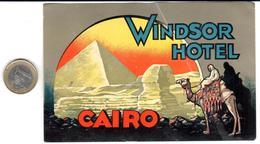 ETIQUETA DE HOTEL    -WINDSOR HOTEL - EL CAIRO  -EGIPTO - Hotel Labels