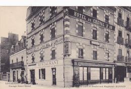 Cpa-35-rennes--boulevard Magenta, Place De La Gare-garage Grand Hotel Lucas Rault Proprietaire - Rennes