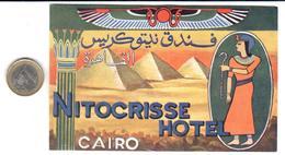 ETIQUETA DE HOTEL    -NITOCRISSE HOTEL - EL CAIRO  -EGIPTO - Hotel Labels