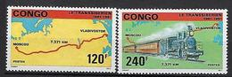 "Congo YT 903 & 904 "" Transsibérien "" 1991 Neuf** - Congo - Brazzaville"