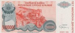 (B0655) CROATIA (REPUBLIKE SRPSKE KRAJINE), 1993. 5000000 Dinara. P-R24. UNC - Croatie