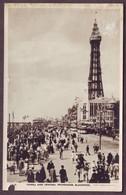 1920s Lancashire England Unused Postcard Showing Tower And Central Promenade Blackpool United Kingdom - Blackpool