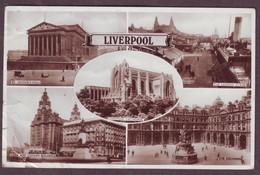 1932 Lancashire England Used Postcard Showing Various Scenes Of Liverpool United Kingdom - Blackpool