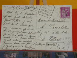 France > Carte  N° 281 Y&T - Lettres & Documents