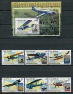 Cuba 2010 / Aviation Airplanes Aircrafts MNH Aviacion Luftfahrt / Cu8538  C3 - Aviones