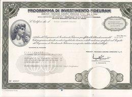 PROGRAMMA DI INVESTIMENTO FIDEURAM _ 1972 - Banca & Assicurazione