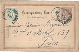 ** Entier Postal *** Entier Postal  AUTRICHE  Supplémenté Pour La France - Stamped Stationery
