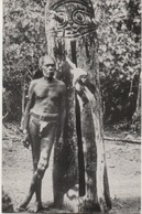 NEW HEBRIDES  TRIBAL CHIEFTAIN AND THE TOTEM OF HIS TRIBE MALEKULO ISLAND      PHOTO BY FUNG KUEI - Vanuatu