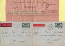 Maroc - Lot De 2 Lettres Et 1 Telegramme - Marruecos (1891-1956)