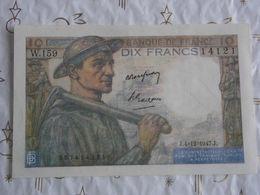 Banque De France 10 Francs Mineur 1947 N°14121 W.159. - 1871-1952 Anciens Francs Circulés Au XXème