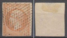SUPERBE OBLITERATION POINTILLES / NAPOLEON N°16, 40c ORANGEcôte 100€ - 1853-1860 Napoléon III.