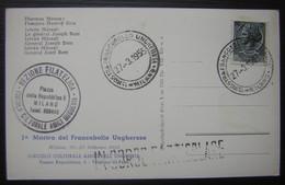 1955 Milano Mostra Del Francobollo Ungherese Général Joseph Bem - 1946-.. République