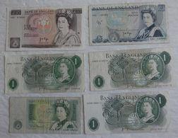 6 Billet De Banque D'England 1 / 5 / 10 Pounds - Verzameleeksen