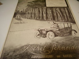ANCIENNE PUBLICITE VOITURE ROCHET-SCHNEIDER 1914 - Camions