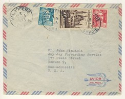 (Z05) - Y&T N°917 + 887+810 - LETTRE VAL D ISERE SAVOIE => USA 1953 TARIF 1-10 GRS DU 01/05/1951 - France