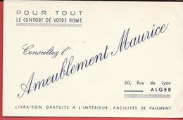 Buvard Ancien - AMEUBLEMENT MAURICE Rue De Lyon ALGER - Pour Tout Le Confort De Votre Home - - Buvards, Protège-cahiers Illustrés