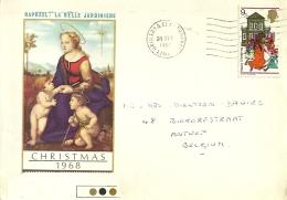 UK 1968 Grimsby & Cleethorpes >> Antwerpen B / Christmas - Lettres & Documents