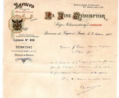 Lettre Illustrée Fine Redemptor Noyers Sur Serein - Alimentaire